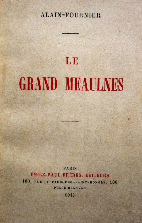 Couverture originale du Grand Meaulnes chez Emile-Paul